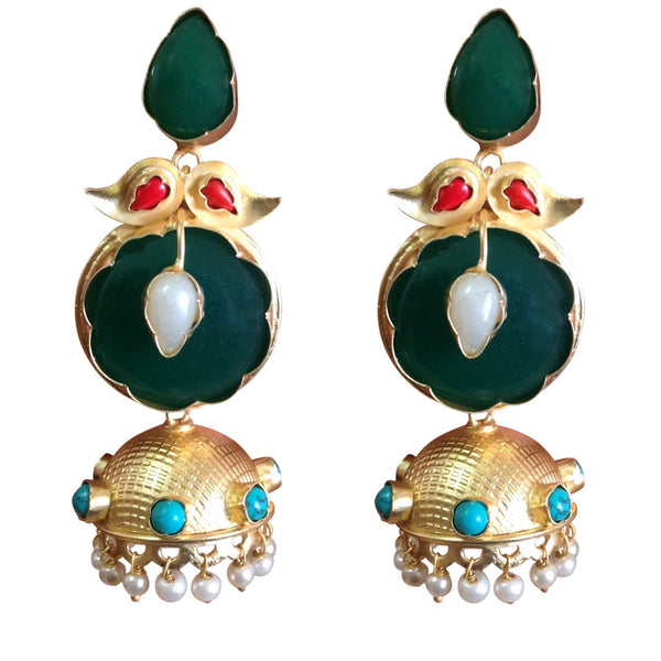 Green Apple jhumka Earrings