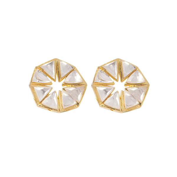 Kundan Pyramid Stud Earrings