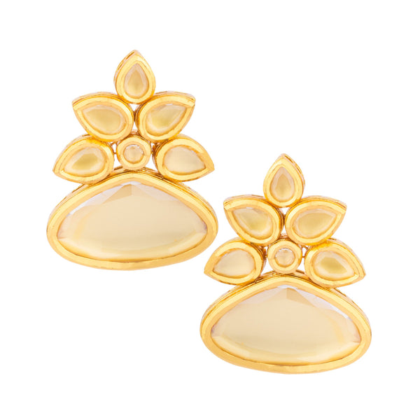 Beautiful Kundan Flower Earrings