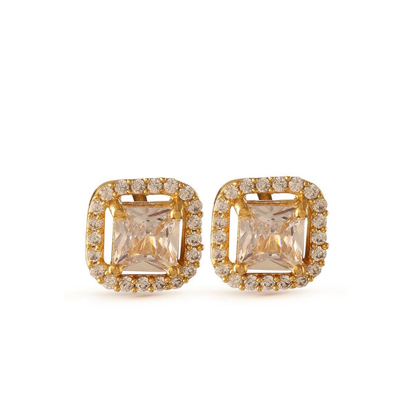 Stunning Crystal Square Stud Earrings