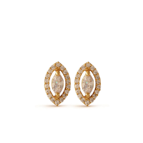 Stunning Crystal Leaf Stud Earrings