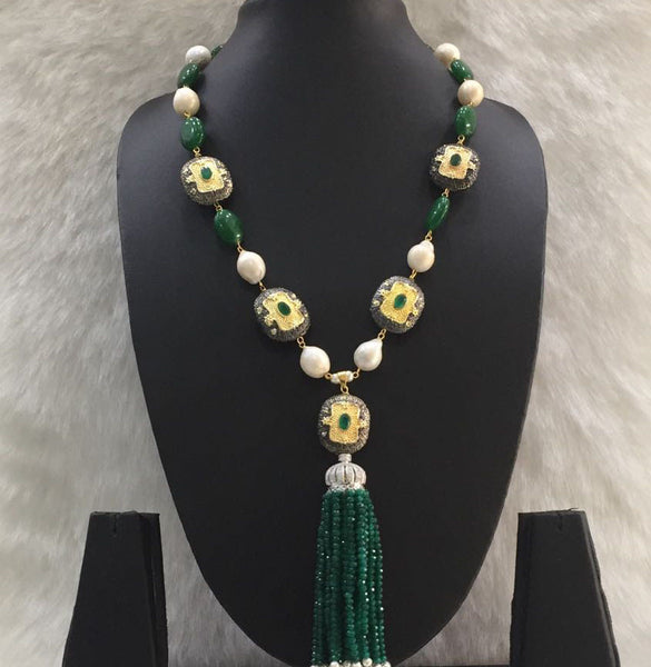 Cocktail Green Necklace