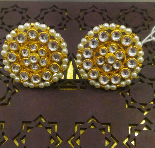 Circlet Kundan Stud Earrings
