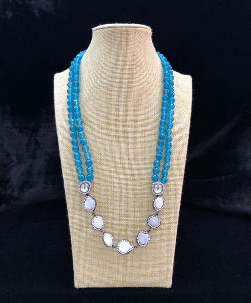 Pearl Allures wearing Cerulean Blue Canopy Necklace