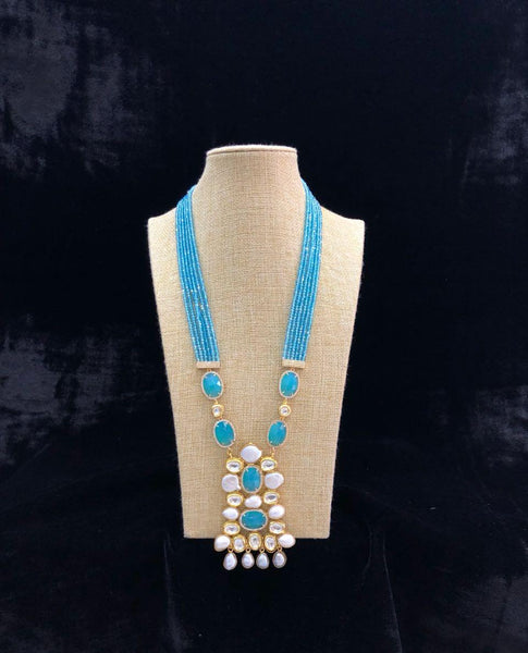 Light Blue and Pearl White Necklace