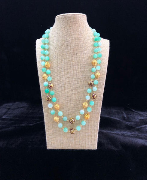 Shades of Cyan Necklace