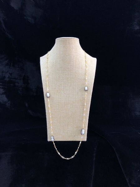 Gold Plated Baroque Pearls Chain