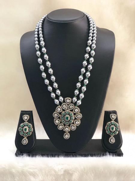 Silvery Green Necklace set