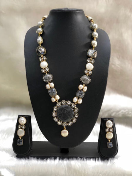 Spectacular Baroque Mother of Pearls & Kundan Necklace Set