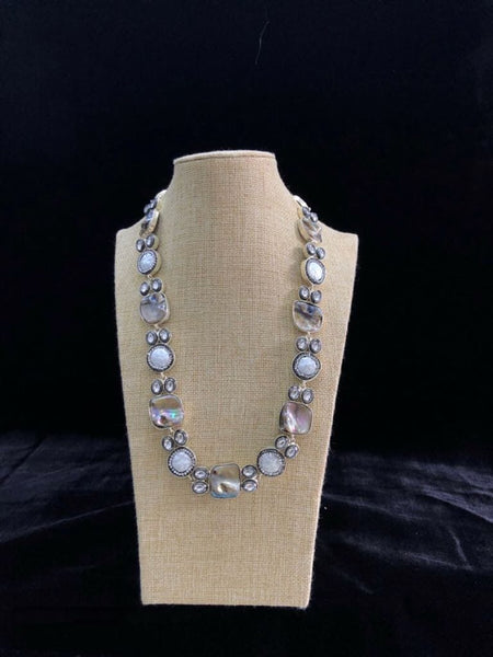 Intricate Mother of Pearls & Kundan Necklace