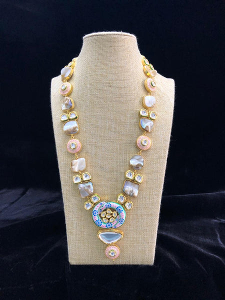Meenakari With Mother of Pearls Necklace