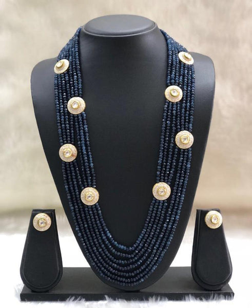 Midnight Blue Multi-stranded Neckace Necklace