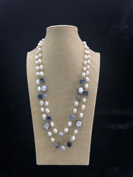 Grey Freshwater Pearls Necklace