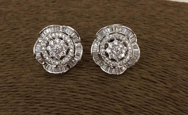 Adorable Floral Cubic Zircon Earrings