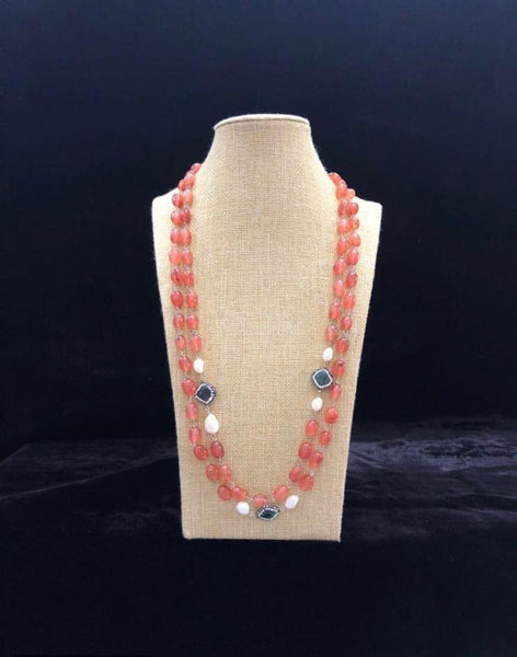 Ponderous Pastel Pink Fresh Water Pearls Necklace