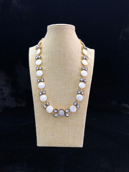 Awesome Mother Of Pearls And Kundan Necklace