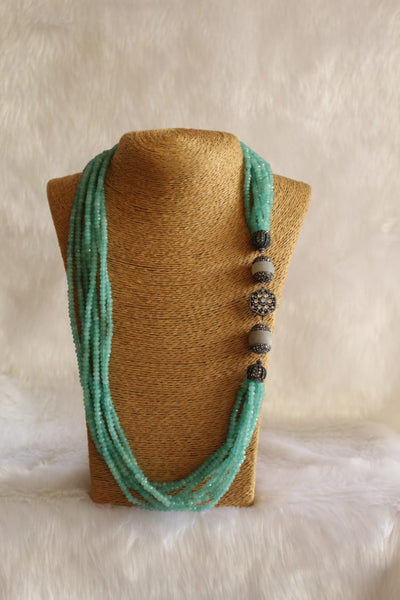 Multistranded Sensational Seafoam Green Necklace