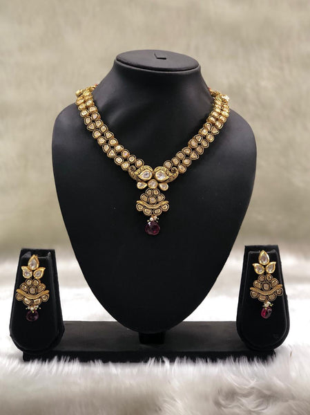 Beauticious Kundan With Beautiful Meenakari Necklace Set