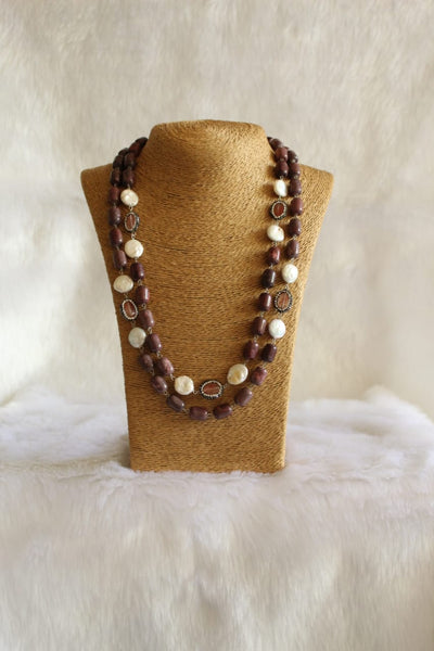 Charismatic Chocolate Brown Pearls Necklace
