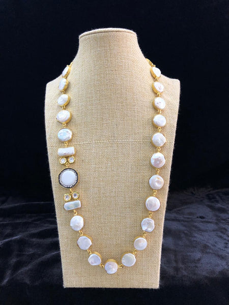 Splendid Baroque Pearls With Crystal Necklace