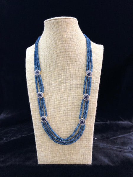 Magnificent Midnight Blue Semi Precious Gemstones Necklace