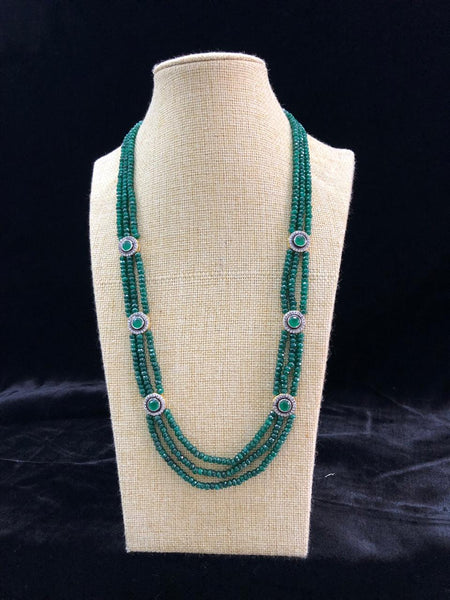 Perfect Pine Green Semi Precious Gemstones Necklace