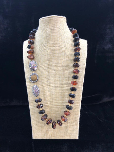 Enthralling Cinnamon Brown Necklace