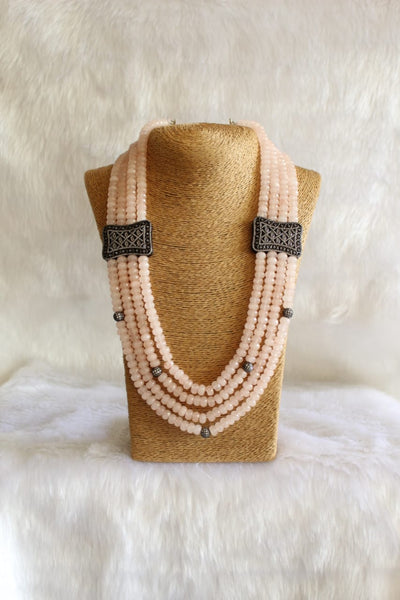 Lemonade Pink Gemstones And Crystals Necklace