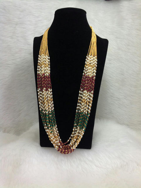 Admirable Mix Multi-Stranded Pearls With Gemstones Necklace