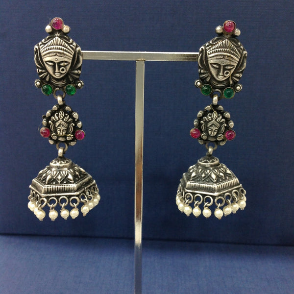 Unique Soulful Silver Jhumka Earrings