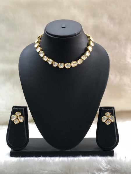 Sensational Mix Kundan Choker Necklace Set