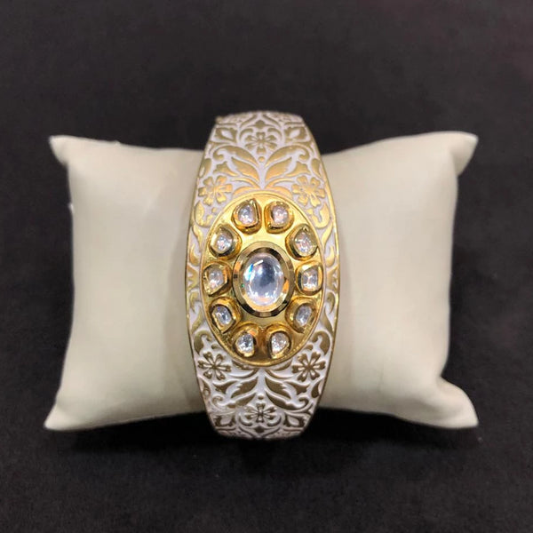 Eye-Catching Meenakari And Kundan Bracelet