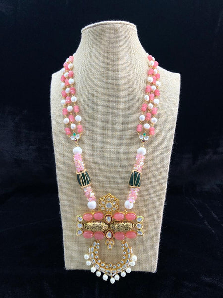Radiance Rose Pink Gemstones and Pearl Necklace