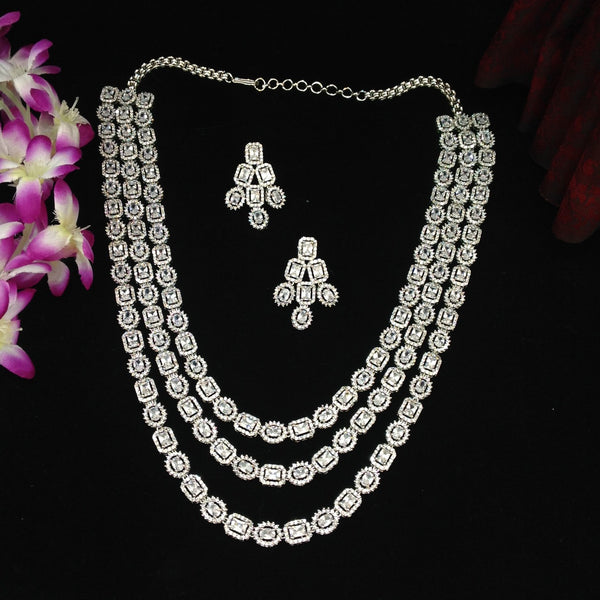 3 Stranded Crystal Necklace Set