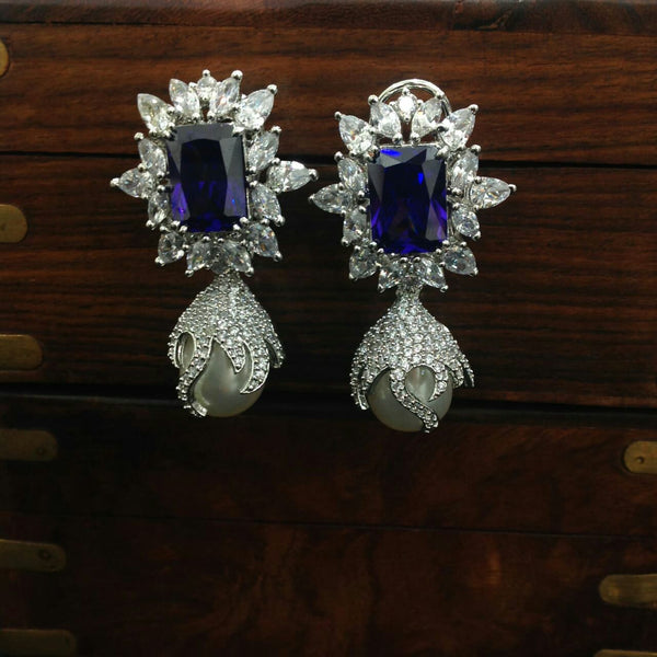 Crystalline White Purple Plum Earrings
