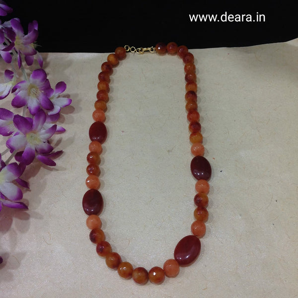 Trending Tangerine Gemstones Necklace