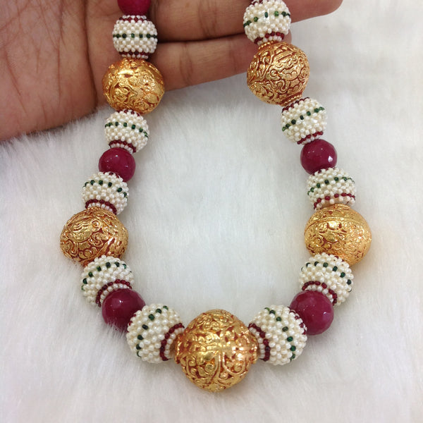 Charismatic Mix Sead Beads with Geru Beads Necklace