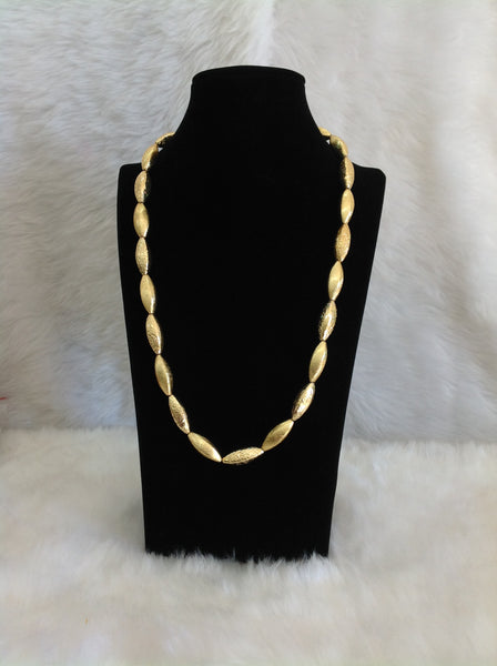 Gleaming Golden Allure Rounded  Necklace