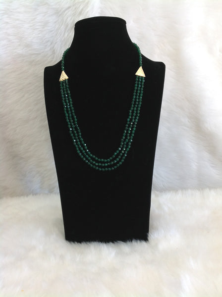 Dark Green Vivacious Necklace