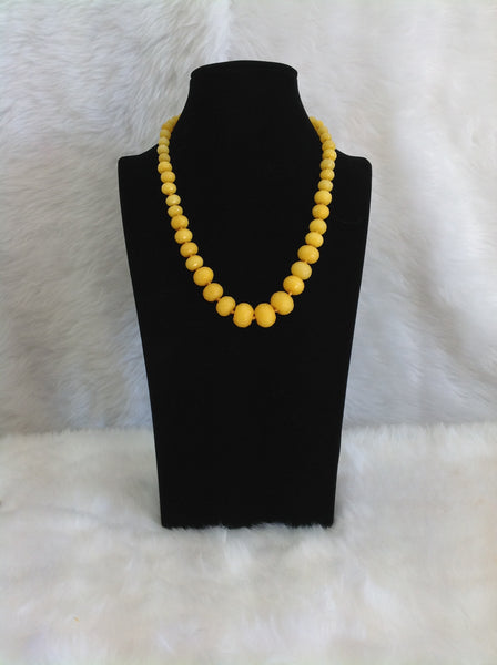 Blooming Butter Yellow Gmestones  Necklace