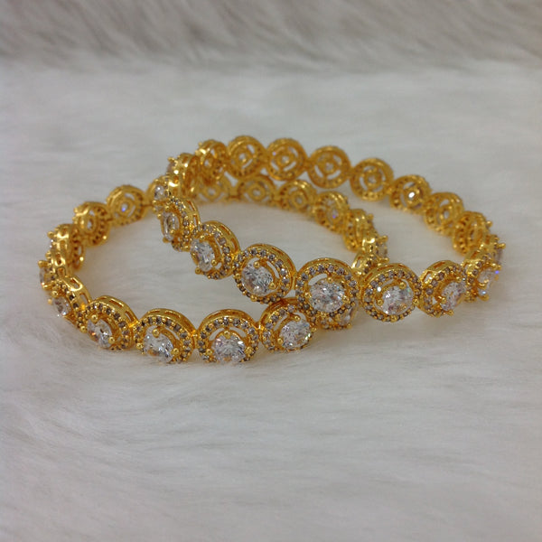 Circular Bond of Golden Crystal Bangles
