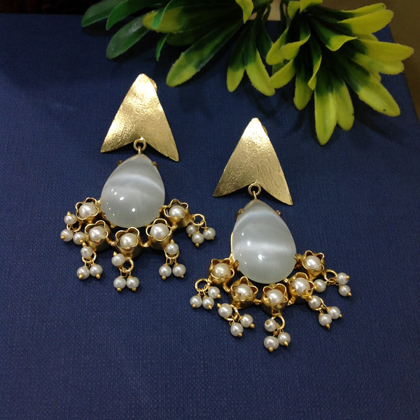 Golden Arrow Long Earrings