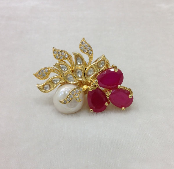 Luscious Ruby Red Crystal Ring