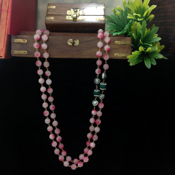 Admirable Pink Allure Synthetic Coral Necklace