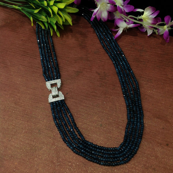 Oceanic Blue 5 Stranded Necklace