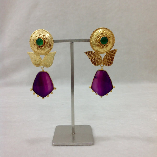 Egyptian Charm Sunflower Earrings