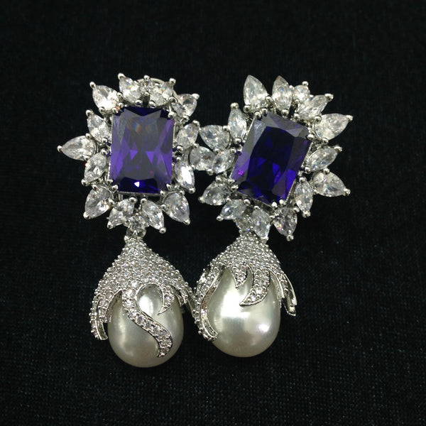 Crystalline Purple Plum Earrings