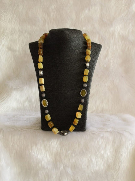 Hues of Vivacious Yellow Gemstone Necklace