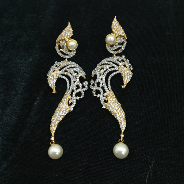 Serpent Charm Two-Toned Earrings
