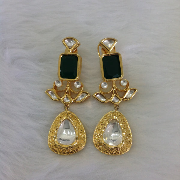 Luscious Green & Kundan Earrings
